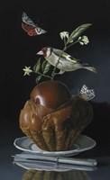The Brioche And The Goldfinch Fine Art Print