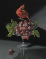The Cardinal With The Cup Of Grapes Fine Art Print