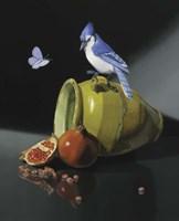 The Jay In Provencal Pot Fine Art Print