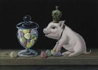 The Piglet With The Berlingots Fine Art Print