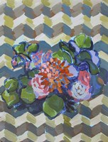 Bouquet on Chevron Fine Art Print