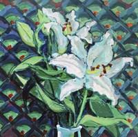 Lily on Pattern Fine Art Print