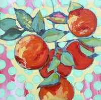 Polka Dot and Electric Orange Fine Art Print