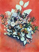 WildFlower on Electric Orange Fine Art Print