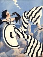 1933 French Art Deco Fashion Art Fine Art Print