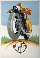 Art Deco Motorcycle Ad 1934 Fine Art Print