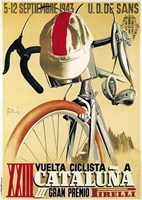 Cataluna Cyclist Gran Premio Race 1943 Fine Art Print