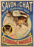 Savon Le Chat Cat Soap ad Fine Art Print