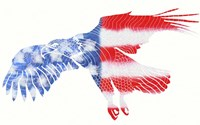 American Eagle Stars and Stripes Fine Art Print