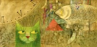 The Cat And The Fish Fine Art Print