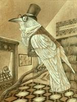 White Raven Fine Art Print