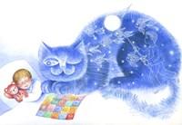 Blue Cat Fine Art Print