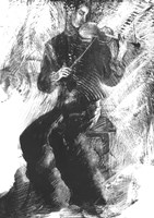 Violinist Fine Art Print