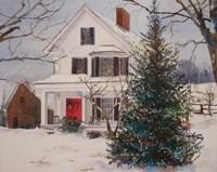 Christmas Farmhouse Fine Art Print