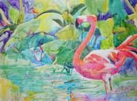 Flaming Flamingo Fine Art Print