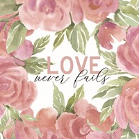 Love Never Fails Fine Art Print