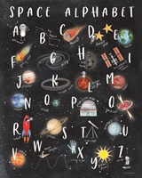 Space Alphabet Framed Print