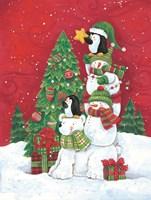 Putting the Star on the Christmas Tree Fine Art Print
