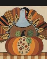 Turkey and Patterned Pumpkin Fine Art Print