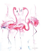 Flamingo Trio Framed Print