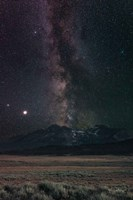 Milky Way in Sawtooth Mountains Fine Art Print