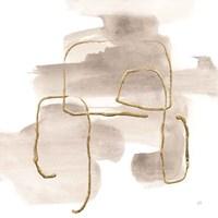 Warm Gray Gold II Framed Print