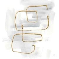 Cool Gray Gold II Framed Print