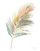 Boho Tropical Leaf III on White Framed Print