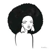 Afro Girl I Fine Art Print