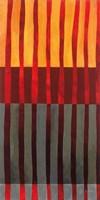 Textured Stripes I Framed Print