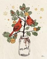 Christmas Lovebirds XIV Noel Framed Print