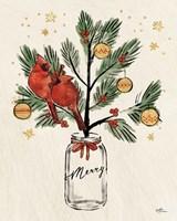 Christmas Lovebirds XIII Merry Framed Print