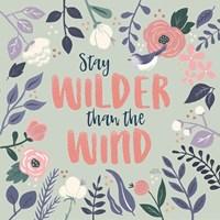 Wildflower Daydreams I Bird Fine Art Print