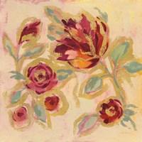 Gilded Loose Floral II Fine Art Print