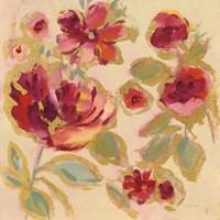 Gilded Loose Floral I Fine Art Print