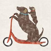 Doxie Ride Working Fine Art Print