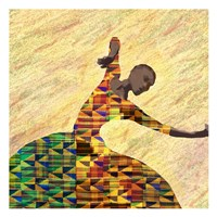 Kente Dancer 1 Framed Print