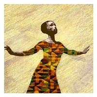 Kente Dancer 2 Fine Art Print