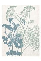 Linen Herbs 1 Framed Print