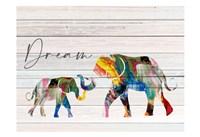 Dream Elephant Framed Print