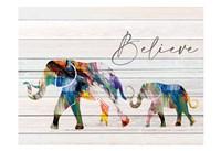 Believe Elephant Framed Print
