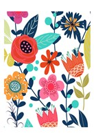 Colorful Floral 1 Fine Art Print