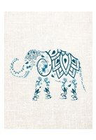 Patterened Elephant Fine Art Print