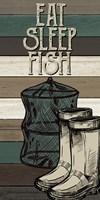 Fishing Panel 3 Framed Print