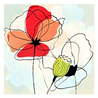 Poppy Square 1 Fine Art Print