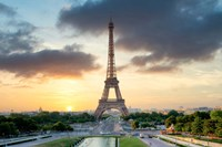 Eiffel Tower Sunset Fine Art Print