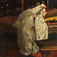 Girl in a White Kimono, 1894 Fine Art Print