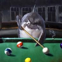 Pool Shark Framed Print