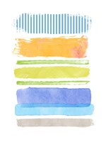 Beach Stripes No. 2 Framed Print