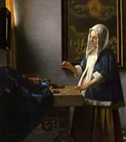 Woman Holding a Balance, 1664 Fine Art Print